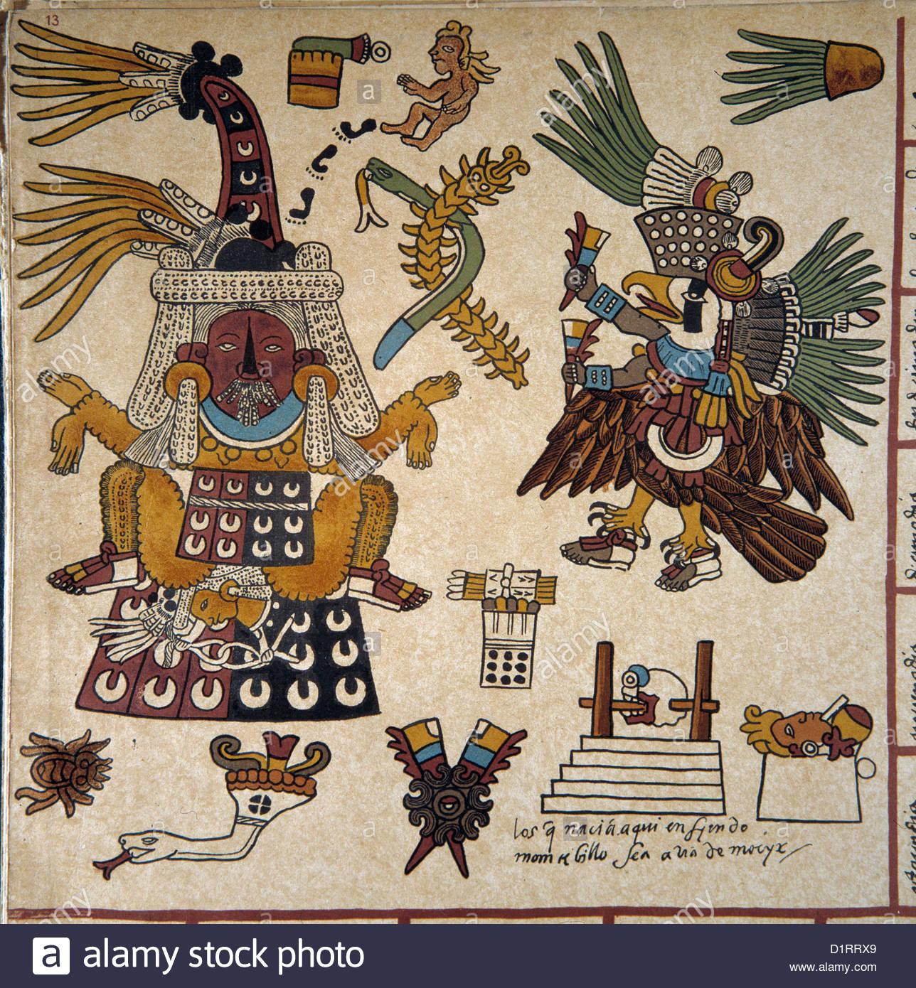 Mexico codex borbonicus aztecmexica detail circa 1519 1540 to the mexico codex borbonicus aztecmexica detail circa 1519 1540 to the left the goddess yxcuinagoddess of carnal passions biocorpaavc Images