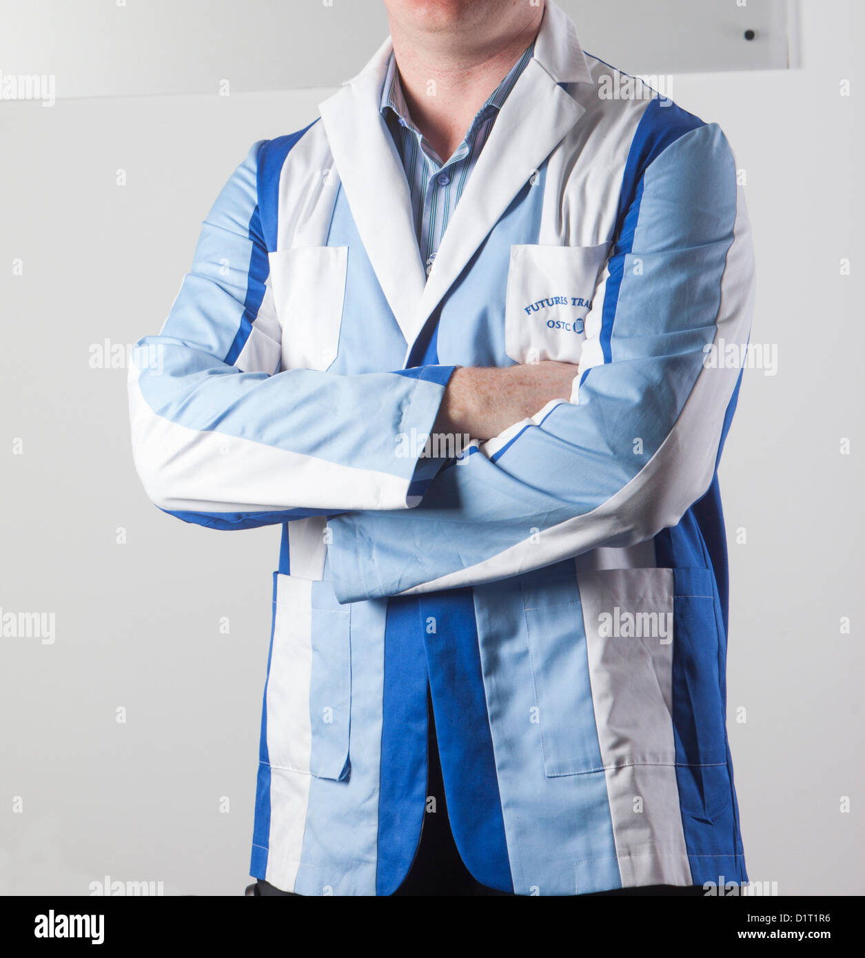 A London Stock Exchange Trader Wearing A Trading Jacket