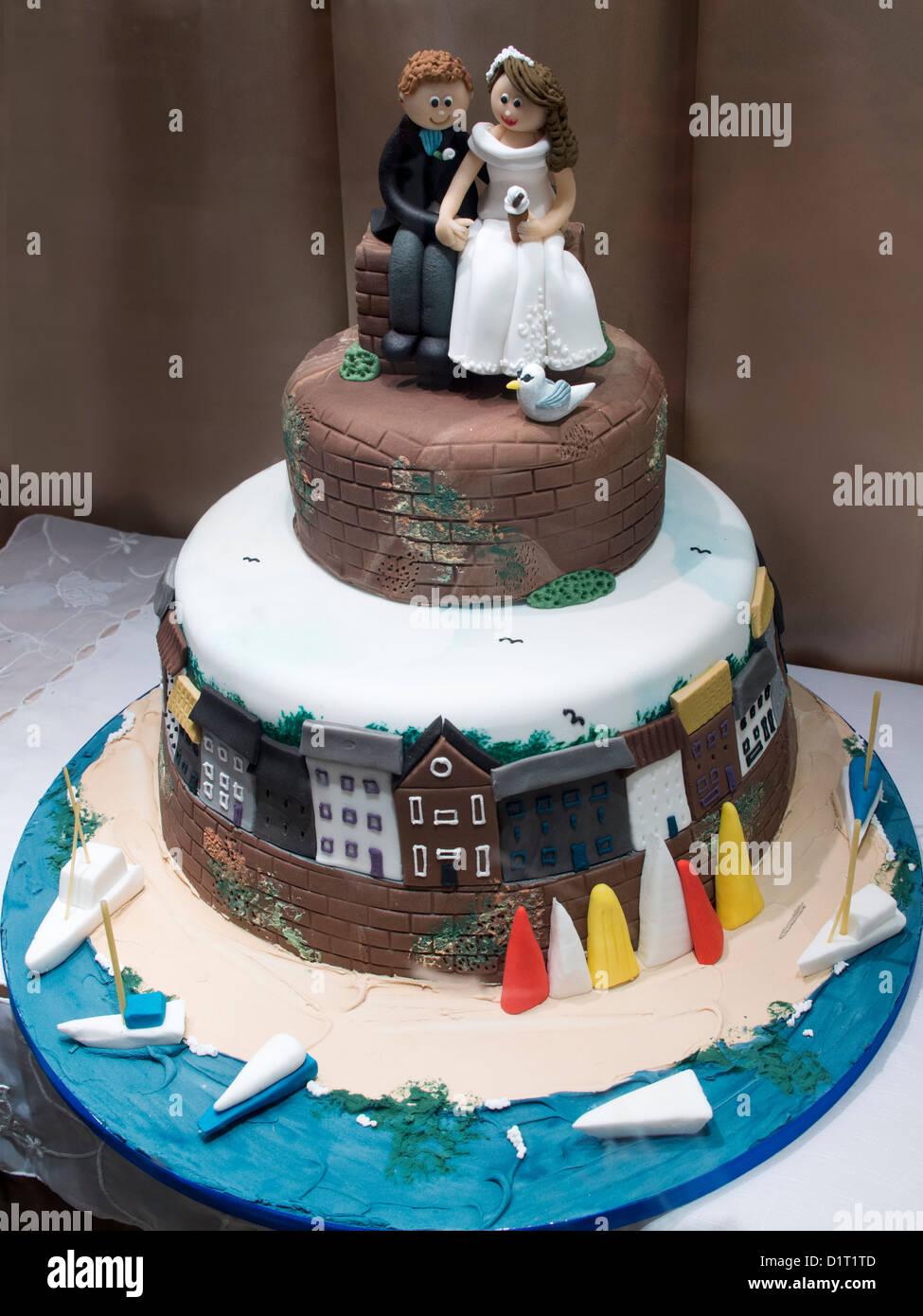 Wedding Cake Decoration Shop Oxford Covered Market 2 Stock Photo - Selfridges Wedding Cakes