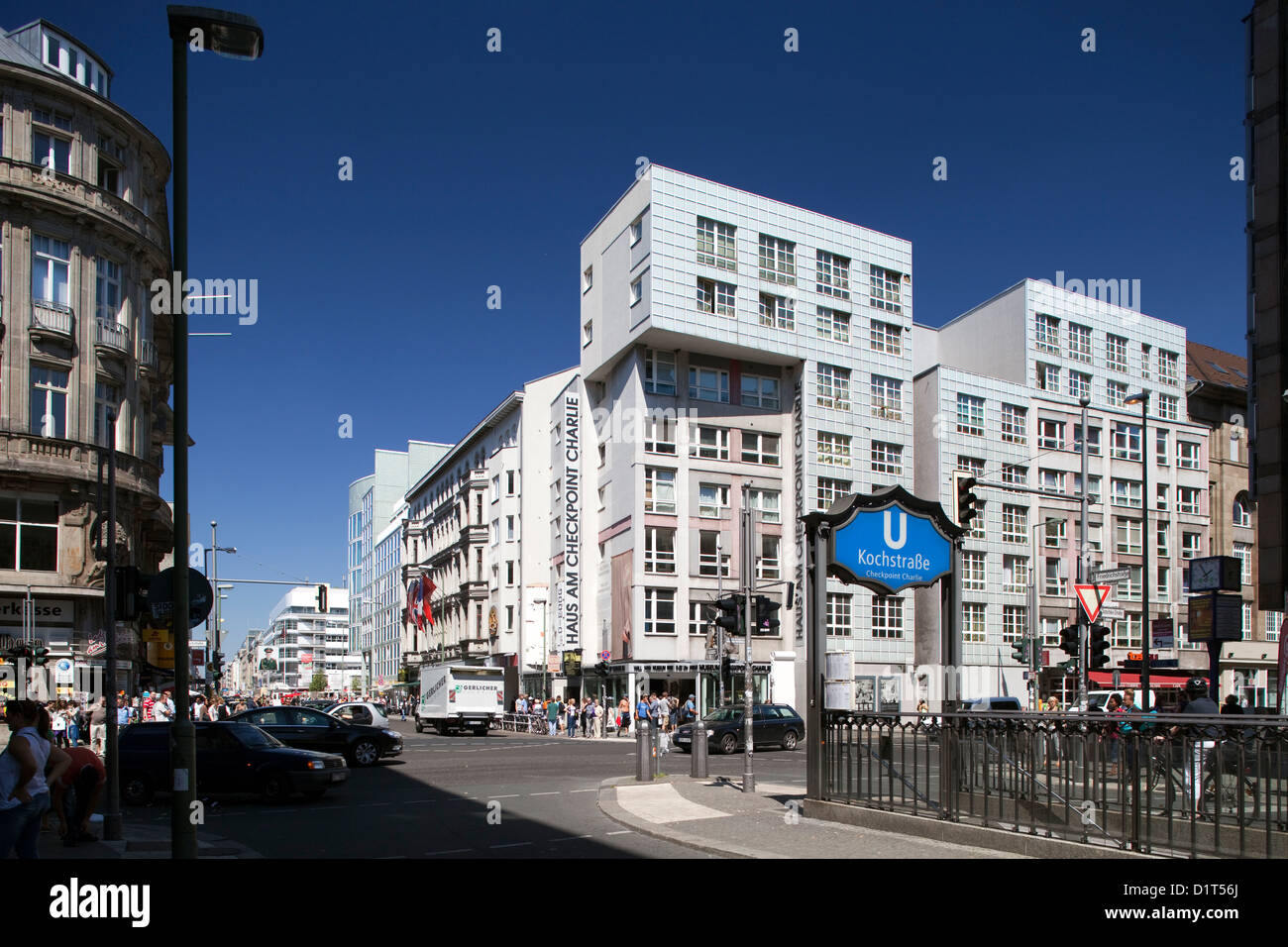 berlin germany metro station kochstrasse direction haus am stock photo royalty free image. Black Bedroom Furniture Sets. Home Design Ideas