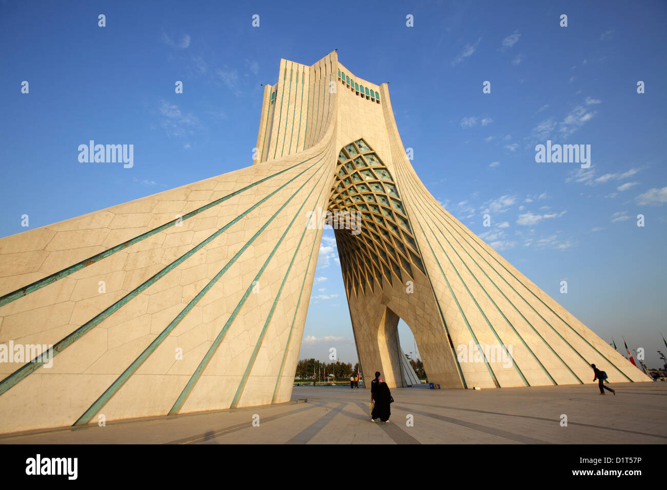 The Azadi Tower, or King Memorial Tower, Tehran, Iran Stock Photo ...