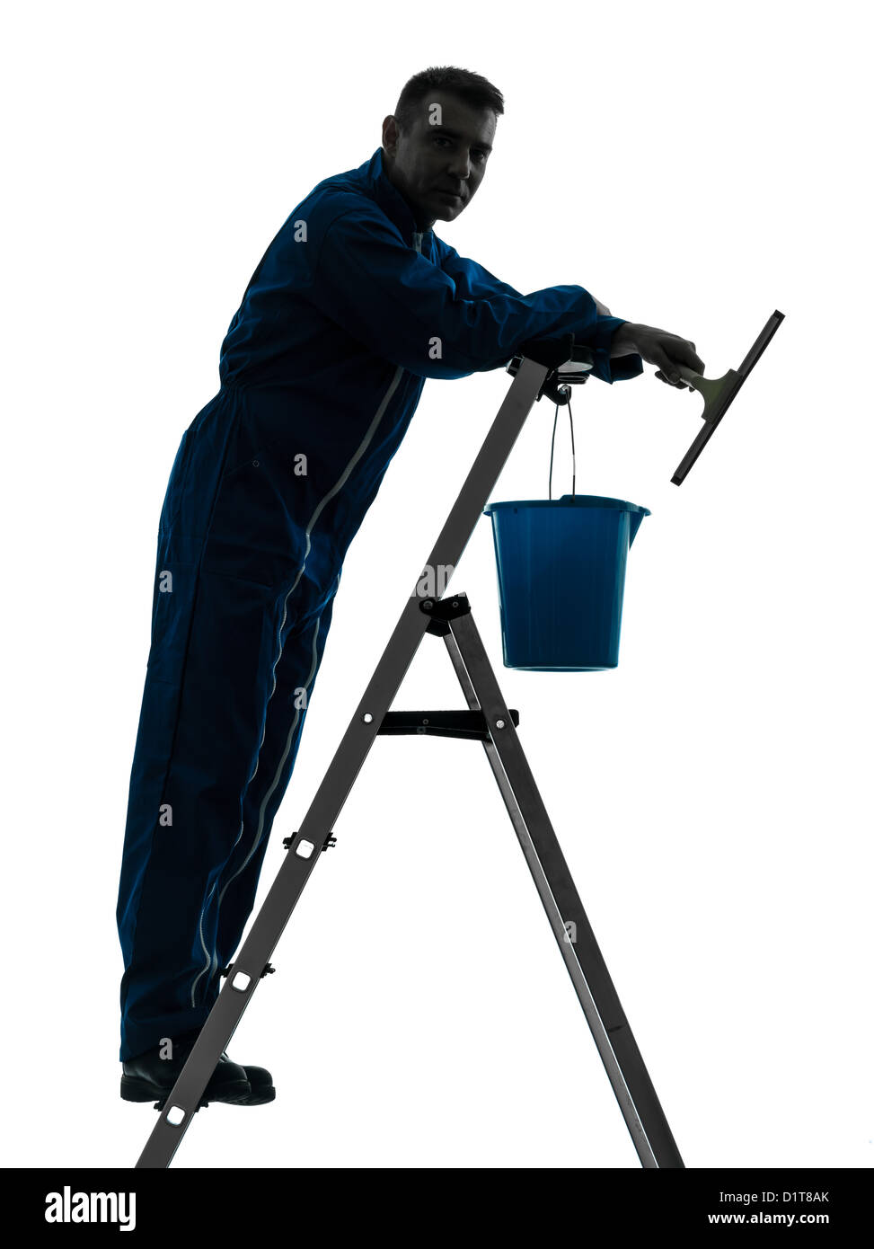 janitor stock photos janitor stock images alamy one man house worker janitor cleaning window cleaner silhouette in studio on white background stock