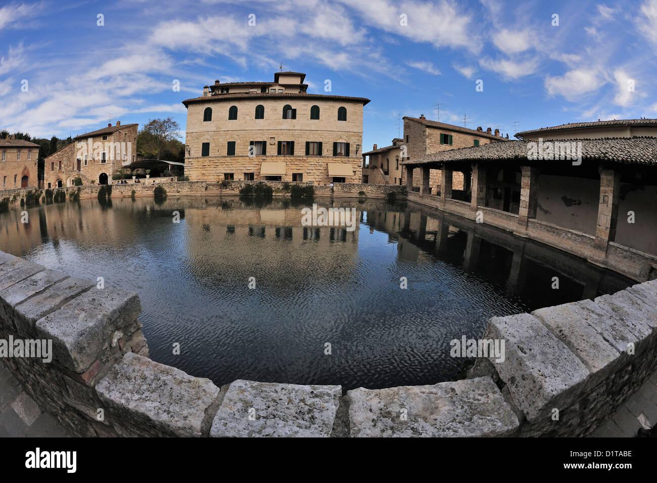 bagno vignoni water square val dorcia landscape siena tuscany italy