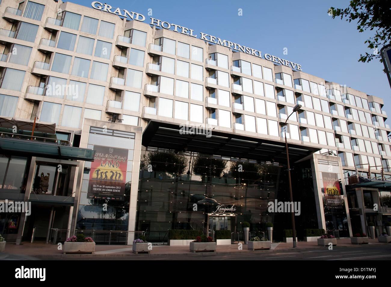 Grand Hotel Kempinski Geneve Geneva Switzerland Europe Stock Photo Royalty Free Image ...