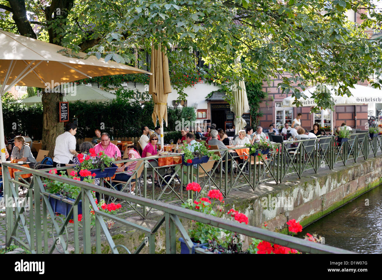 freiburg germany a beer garden on the outskirts of the worm in stock photo royalty free image. Black Bedroom Furniture Sets. Home Design Ideas
