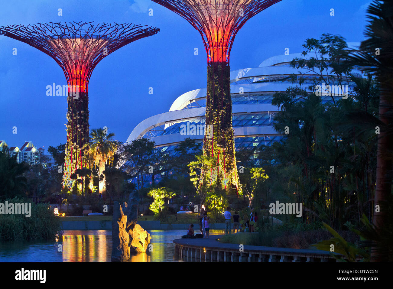 Singapore, Marina Bay, Gardens by the Bay, Supertrees and ...