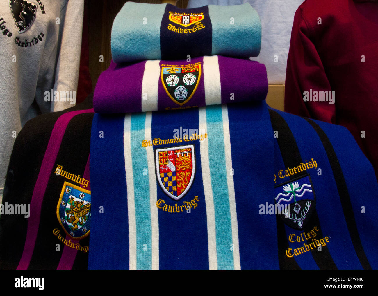 Shop display. Cambridge University Scarf Scarves and University ...