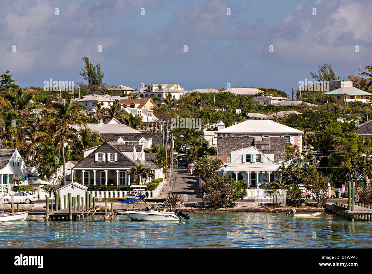 Dunmore Town Harbour Island The Bahamas Stock Photo