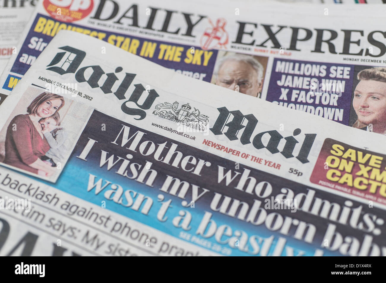 Gally Mail: The Front Pages And Mastheads Of UK British English Daily
