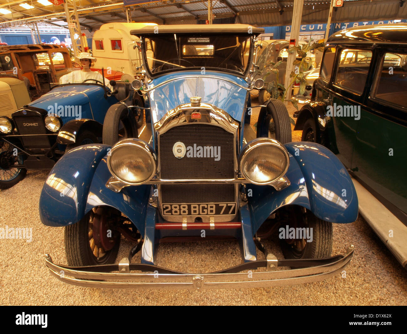 automobile museum reims champagne 1930 willys knight stock photo royalty free image 52821298. Black Bedroom Furniture Sets. Home Design Ideas