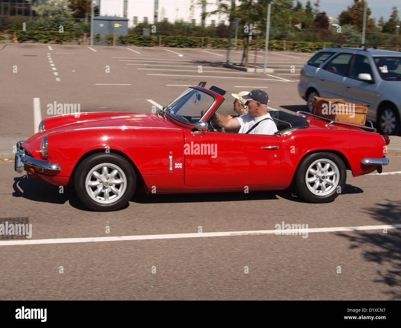 spitfire car. classic car meeting haarlem triumph spitfire mk iii