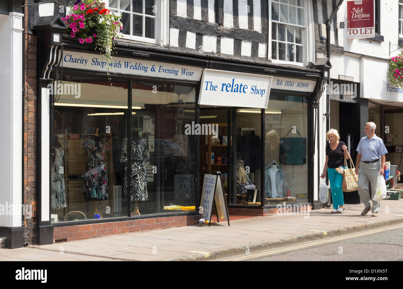 The dress agency - Stock Photo The Relate Charity Shop And Dress Agency On Mardol Shrewsbury Relate Was Formerly The National Marriage Guidance Council