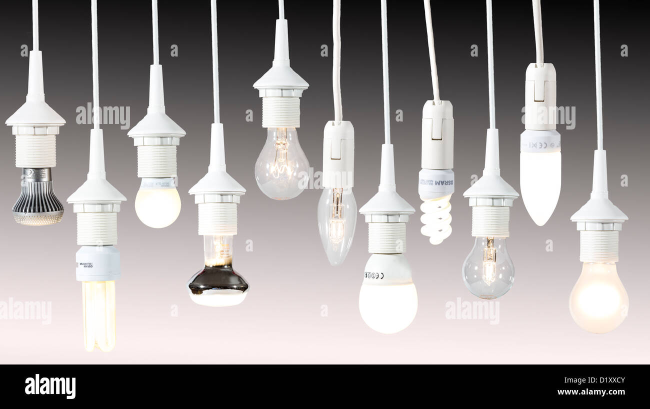 Different light bulbs energy saving lamps electric light stock different light bulbs energy saving lamps electric light arubaitofo Gallery