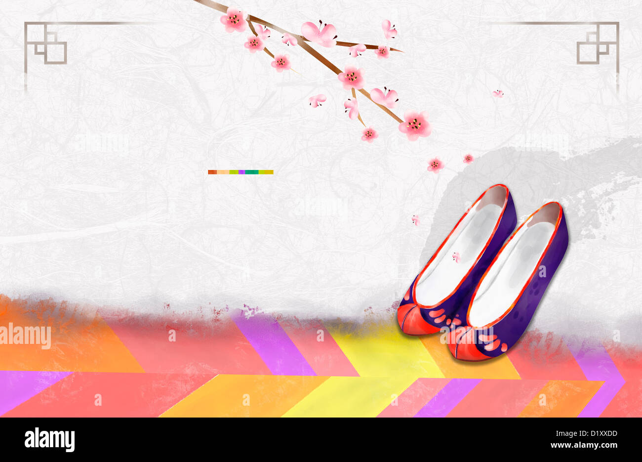 ppt template illustration of korean traditional shoes stock photo  royalty free image  52837273