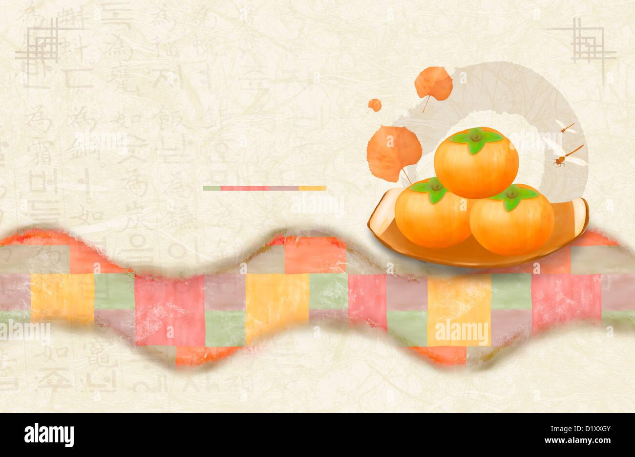 Ppt template illustration of korean design with persimmon stock ppt template illustration of korean design with persimmon toneelgroepblik Choice Image