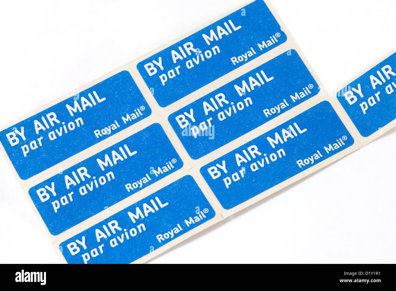 Air mail par avion letter stamp stamps sticker stickers, UK Stock ...