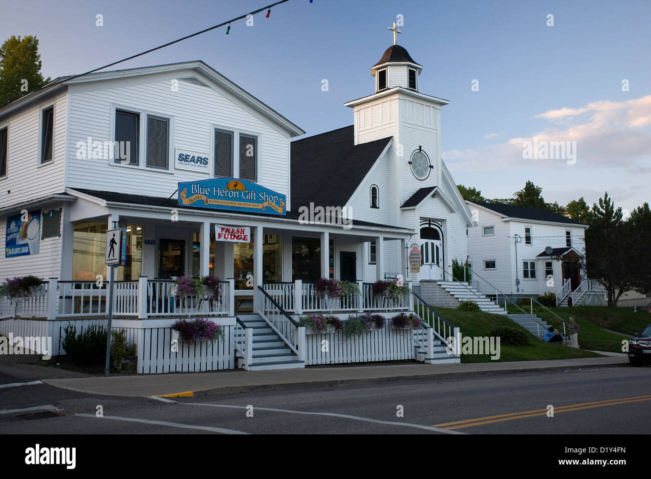 the church and blue heron gift shop in baddeck cape breton nova stock photo royalty free. Black Bedroom Furniture Sets. Home Design Ideas
