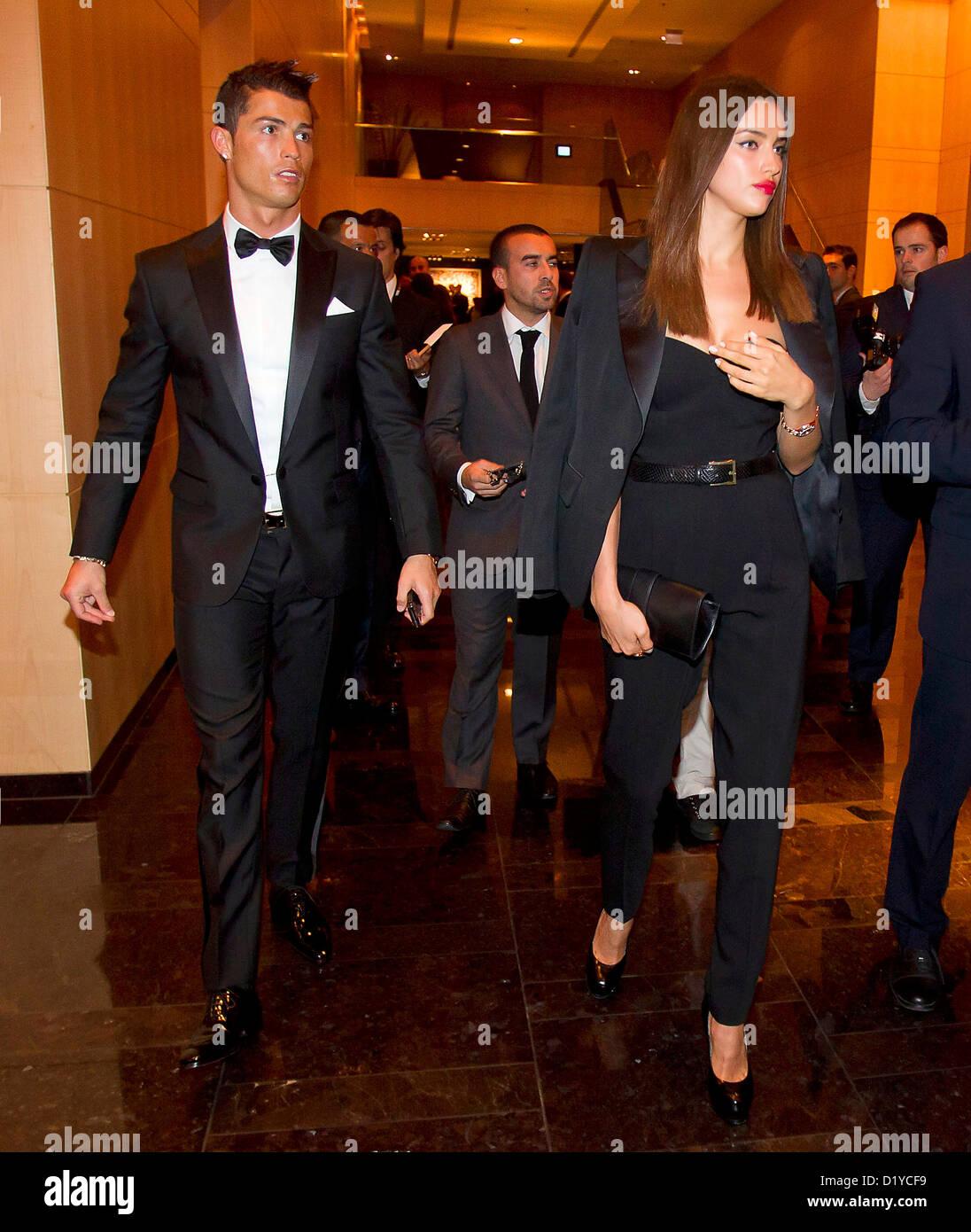 Cristiano Ronaldo and Irina Shayk, during FIFA Ballon d'Or ... Irina Shayk And Cristiano Ronaldo 2013
