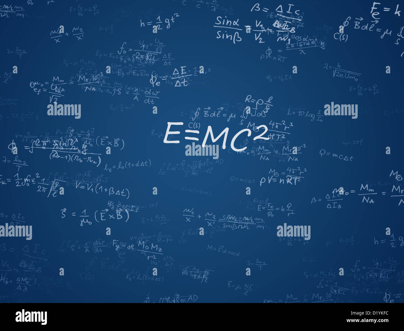 Physics and mathematics background - equations cloud Stock ...