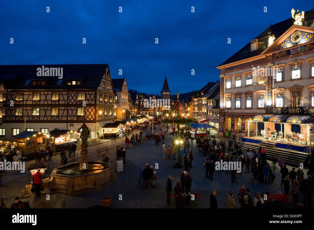 christmas market gengenbach black forest baden wuerttemberg stock photo 52863408 alamy. Black Bedroom Furniture Sets. Home Design Ideas