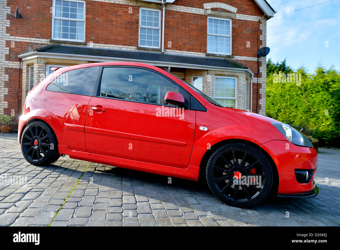a ford fiesta st sports car 2007 stock photo royalty. Black Bedroom Furniture Sets. Home Design Ideas