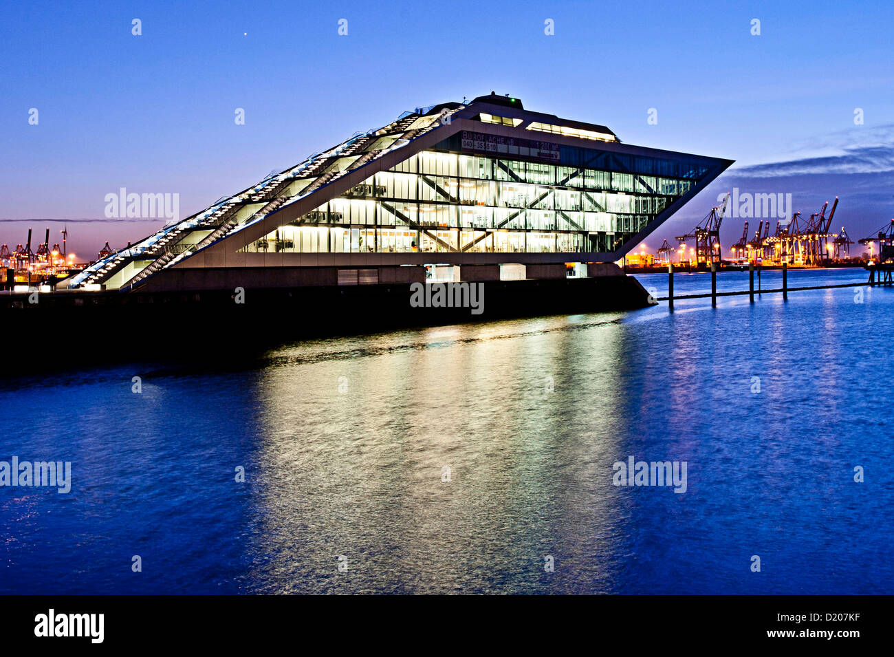 dockland at dusk modern architecture in hafencity hamburg germany stock photo royalty free. Black Bedroom Furniture Sets. Home Design Ideas