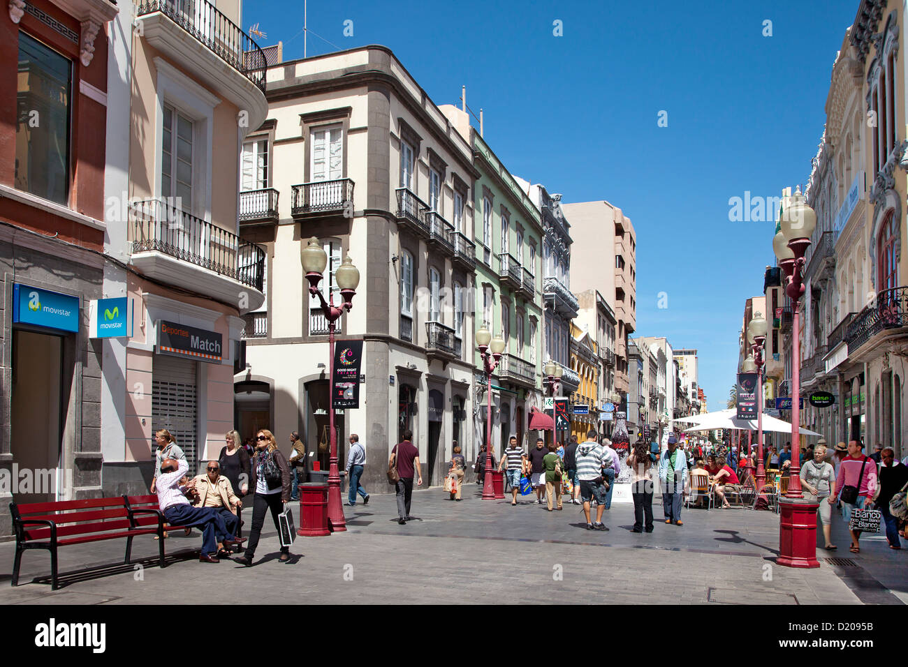 People in a shopping street at the old town triana las - Vintage las palmas ...