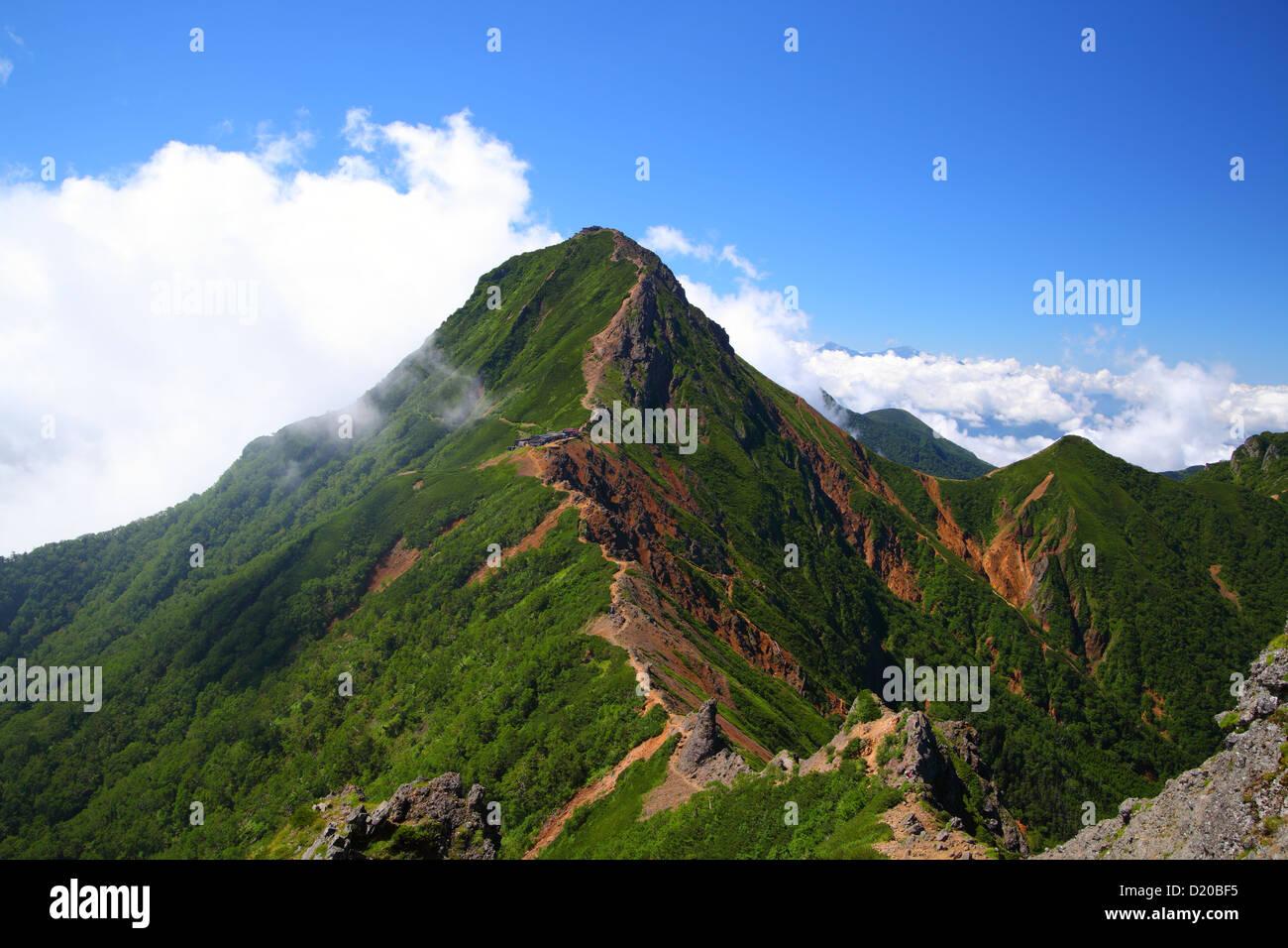 View Of Mt Yatsugatake In Summer Nagano Japan Stock