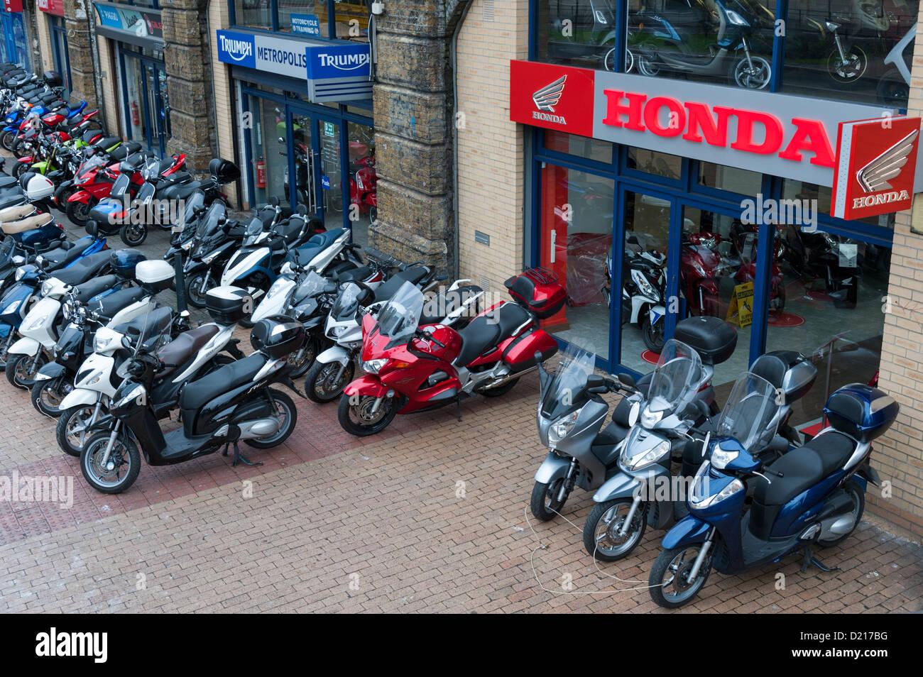 Honda Motorcycle Dealer Shop At Vauxhall London UK With