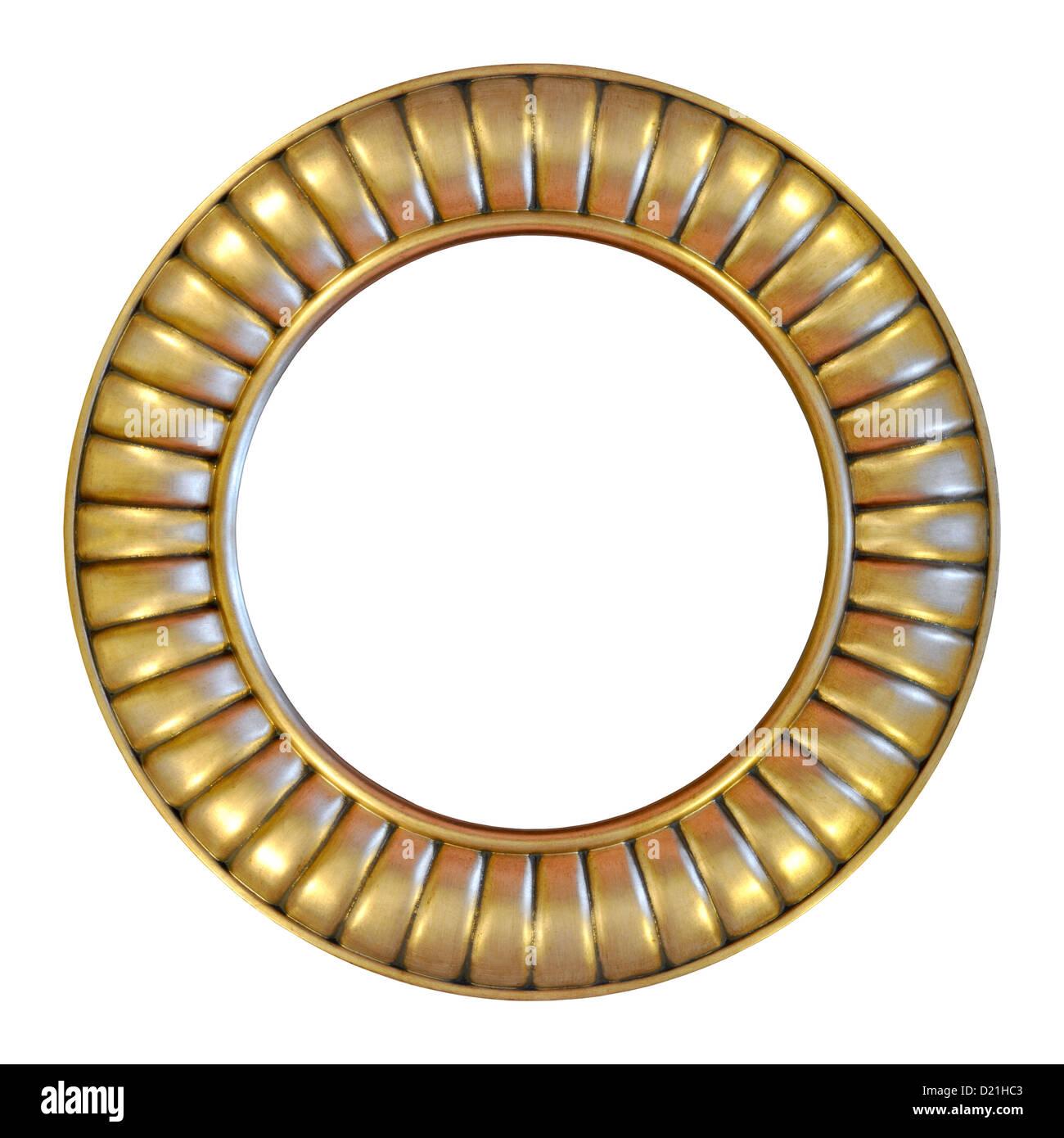 Stylish Design Round Gold Frame Stock Photo Royalty Free