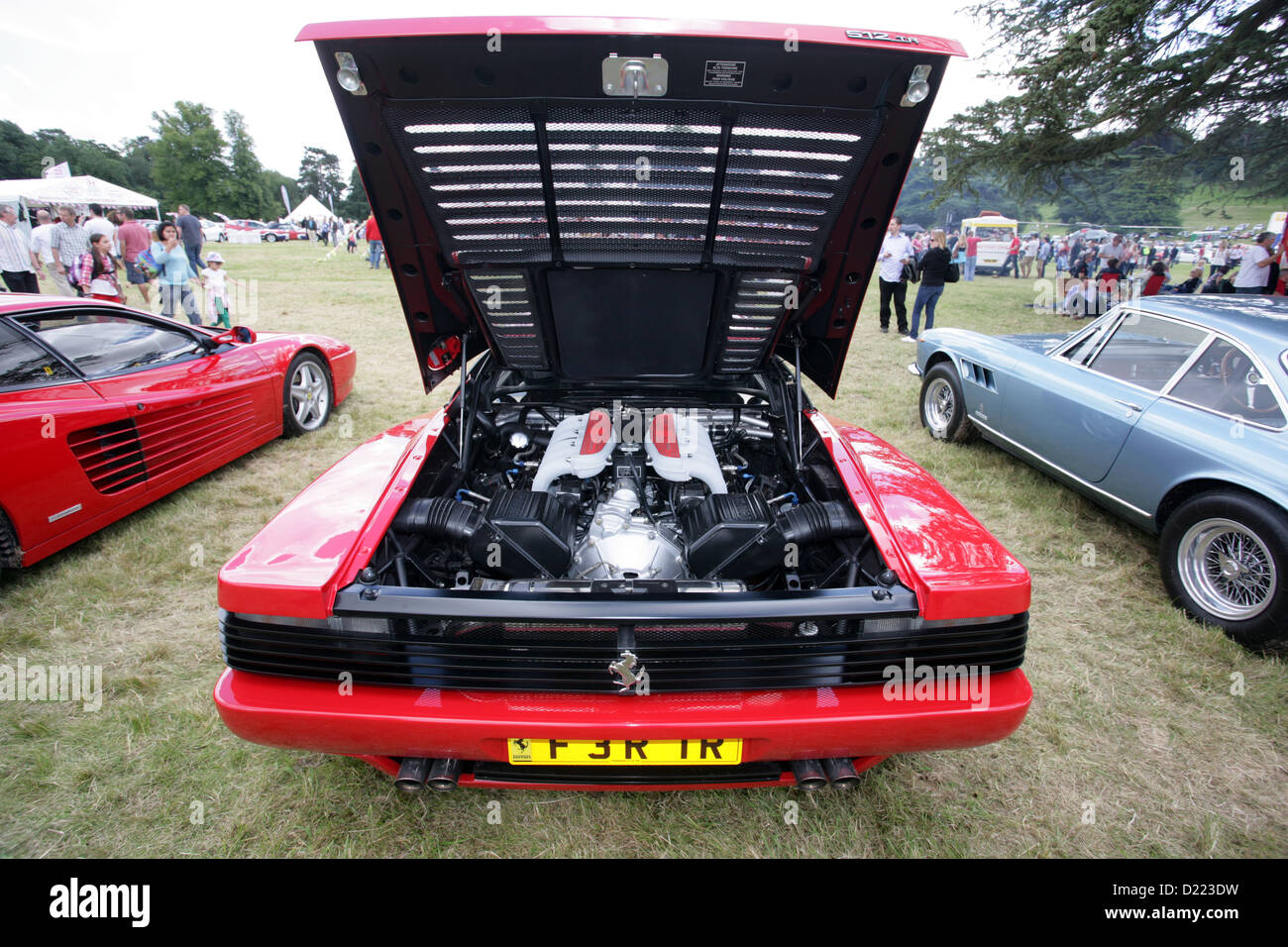 Ferrari 512 stock photos ferrari 512 stock images alamy a ferrari 512 tr testarossa showing the 49 litre v12 engine in all its vanachro Images