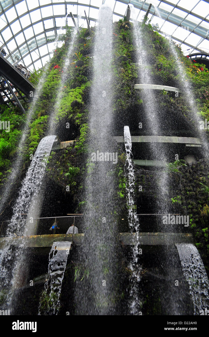 35metre tall mountain shrouding the worldu0027s tallest indoor waterfall at cloud forest gardens