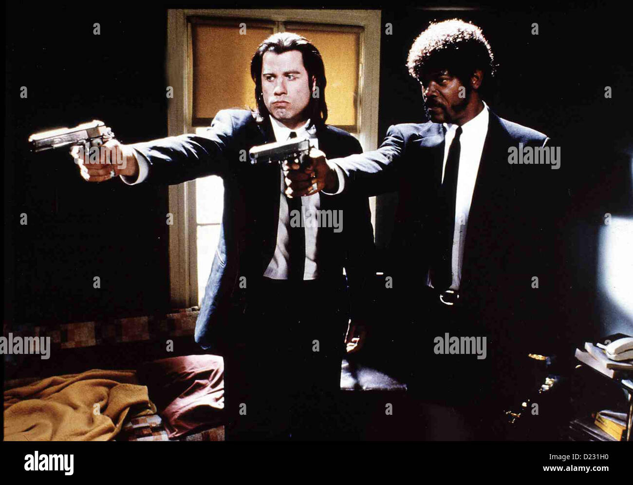 a comparison of john travolta and samuel l jackson in pulp fiction Cast jules winnfield (samuel l jackson) vincent vega (john travolta)  vincent  the role rescued the career of john travolta, who most people  doubted could  turan thought that travolta ends up being more memorable [ then jackson] only  where he learned some important things about cross- cultural differences.
