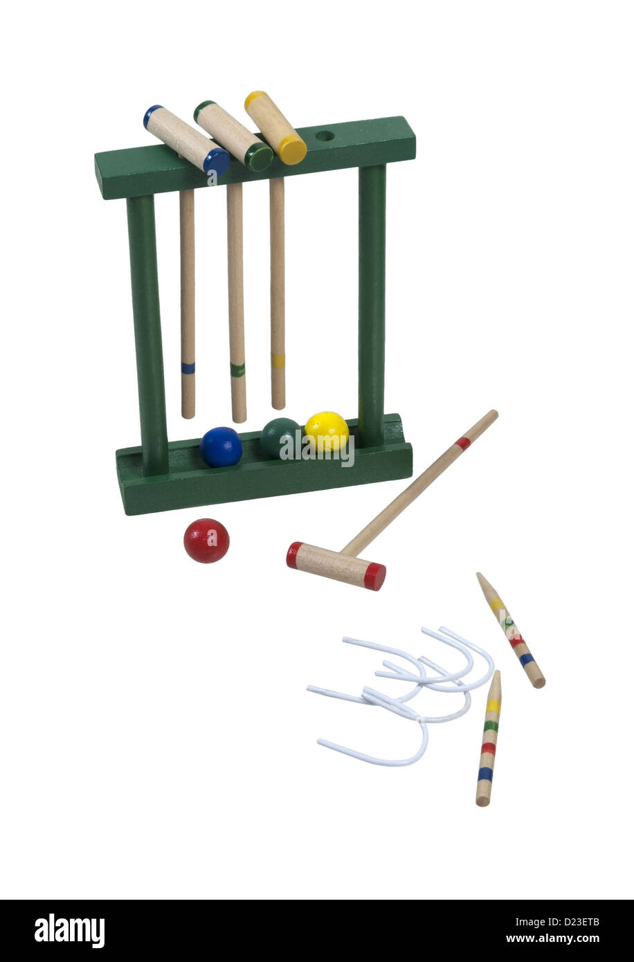 Croquet set with mallets and balls path included stock photo croquet set with mallets and balls path included pooptronica Image collections