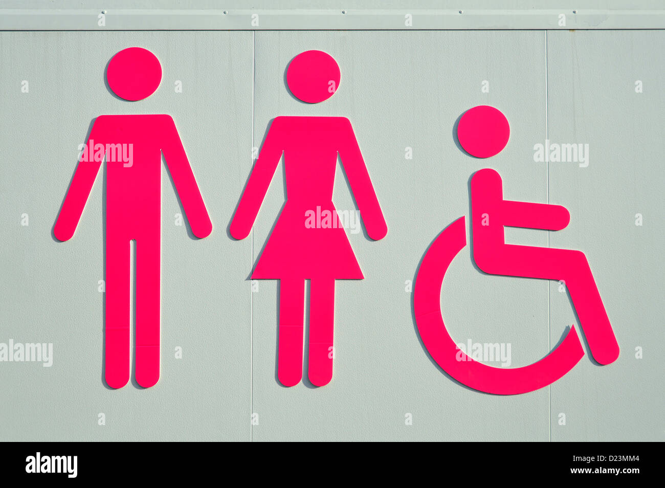 Stock Photo   toilet sign for ladies gents and disabled facilities. Toilet Sign For Ladies Gents And Disabled Facilities Stock Photo