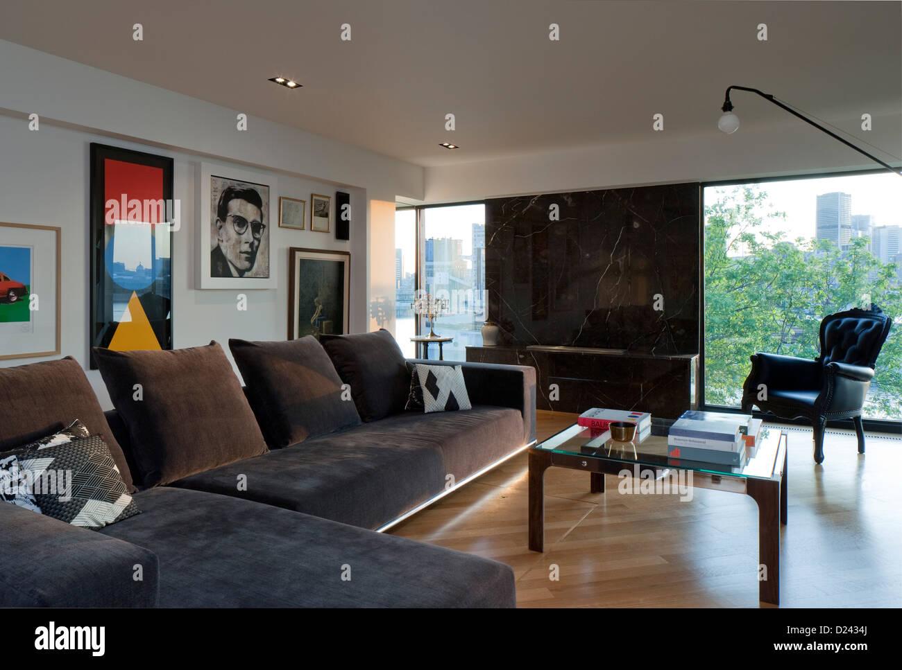 Habitat 67 Montreal Canada Architect Moshie Safdie 1967 Living Room