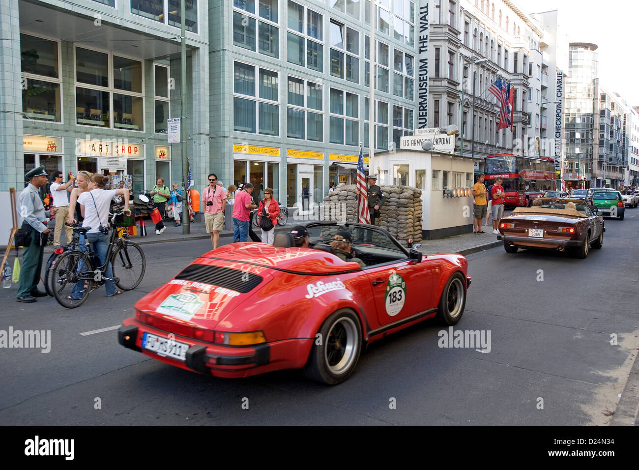 Berlin Germany The Classic Rally Cars Hamburg At Checkpoint