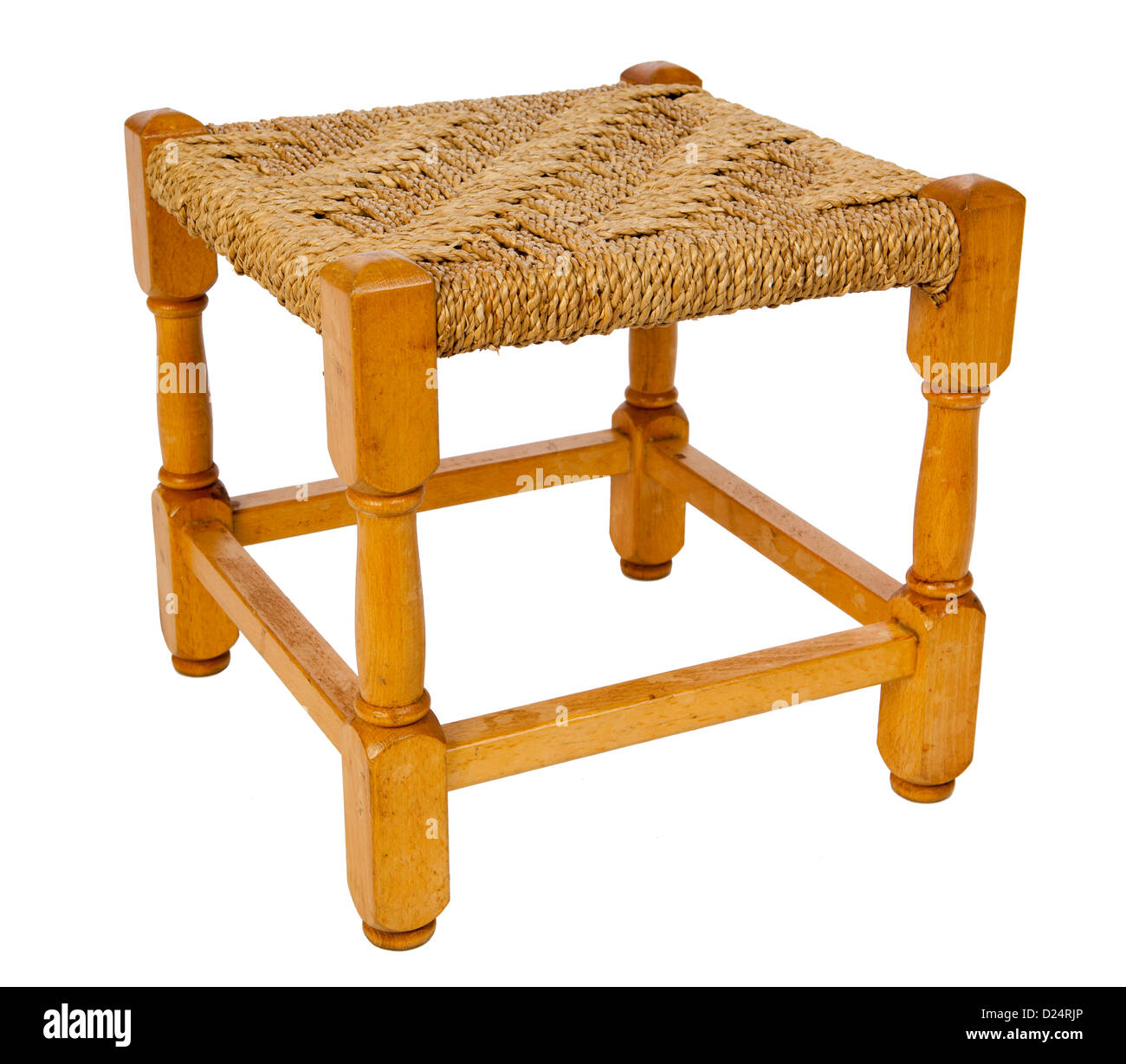 Furniture small beech foot stool with woven rush seat  sc 1 st  Alamy & Furniture small beech foot stool with woven rush seat Stock Photo ... islam-shia.org