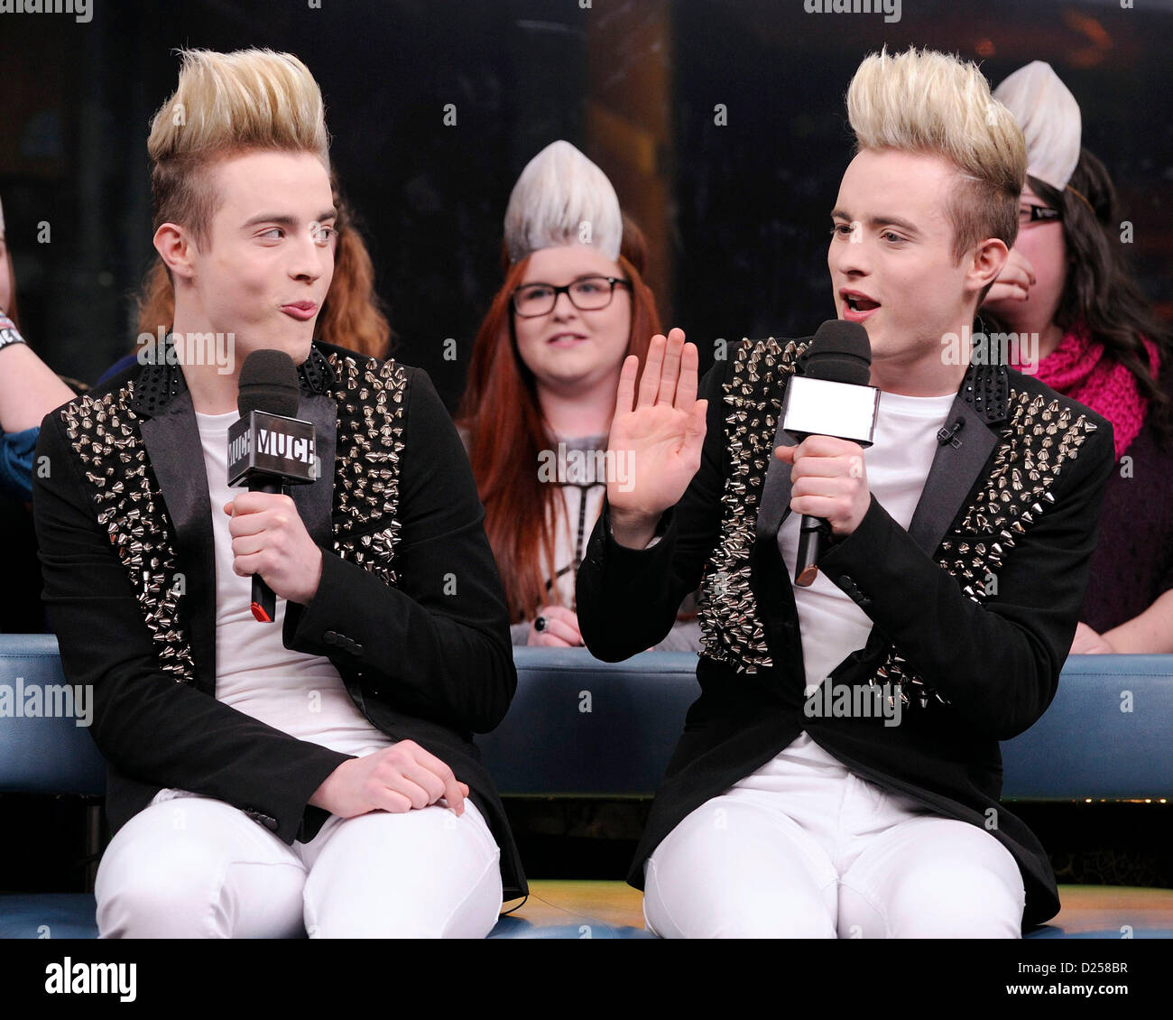 Toronto canada 14th january 2013 irish identical twins pop duo jedward john