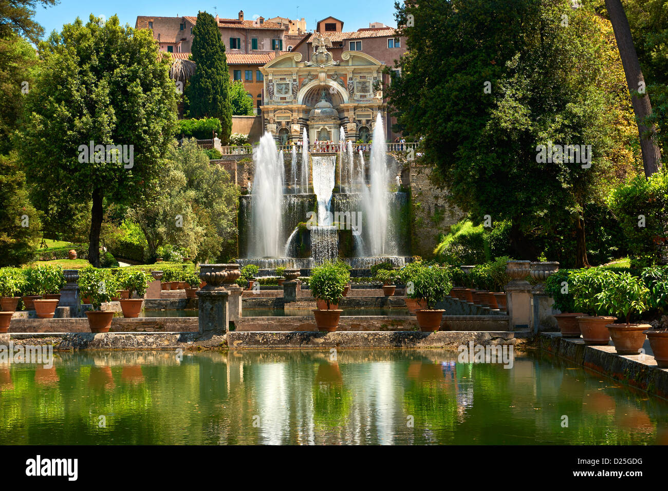 the water jets of the organ fountain villa d 39 este tivoli italy stock photo 52983100 alamy. Black Bedroom Furniture Sets. Home Design Ideas