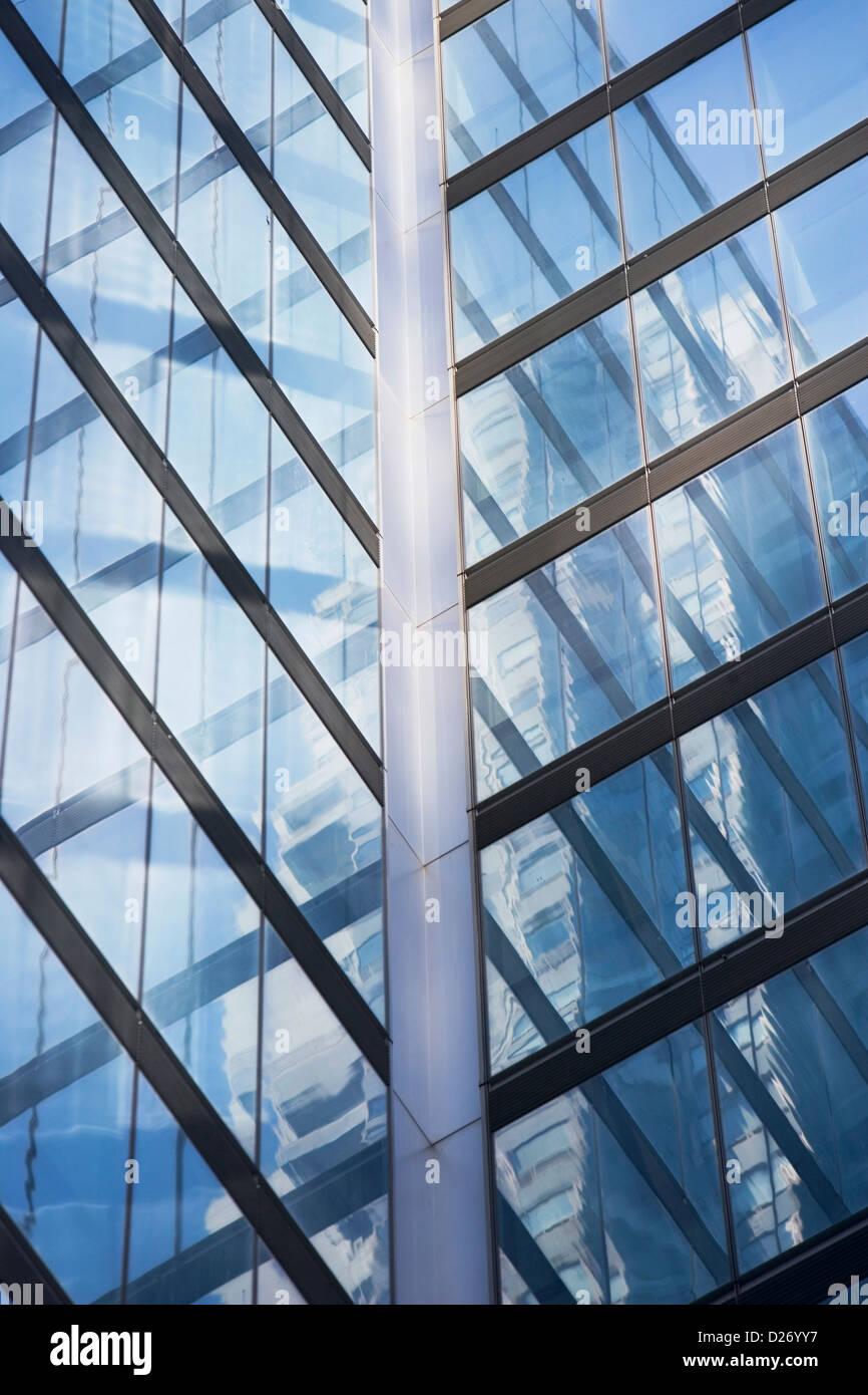 Modern Architecture New York usa, new york, new york city, close up of modern architecture