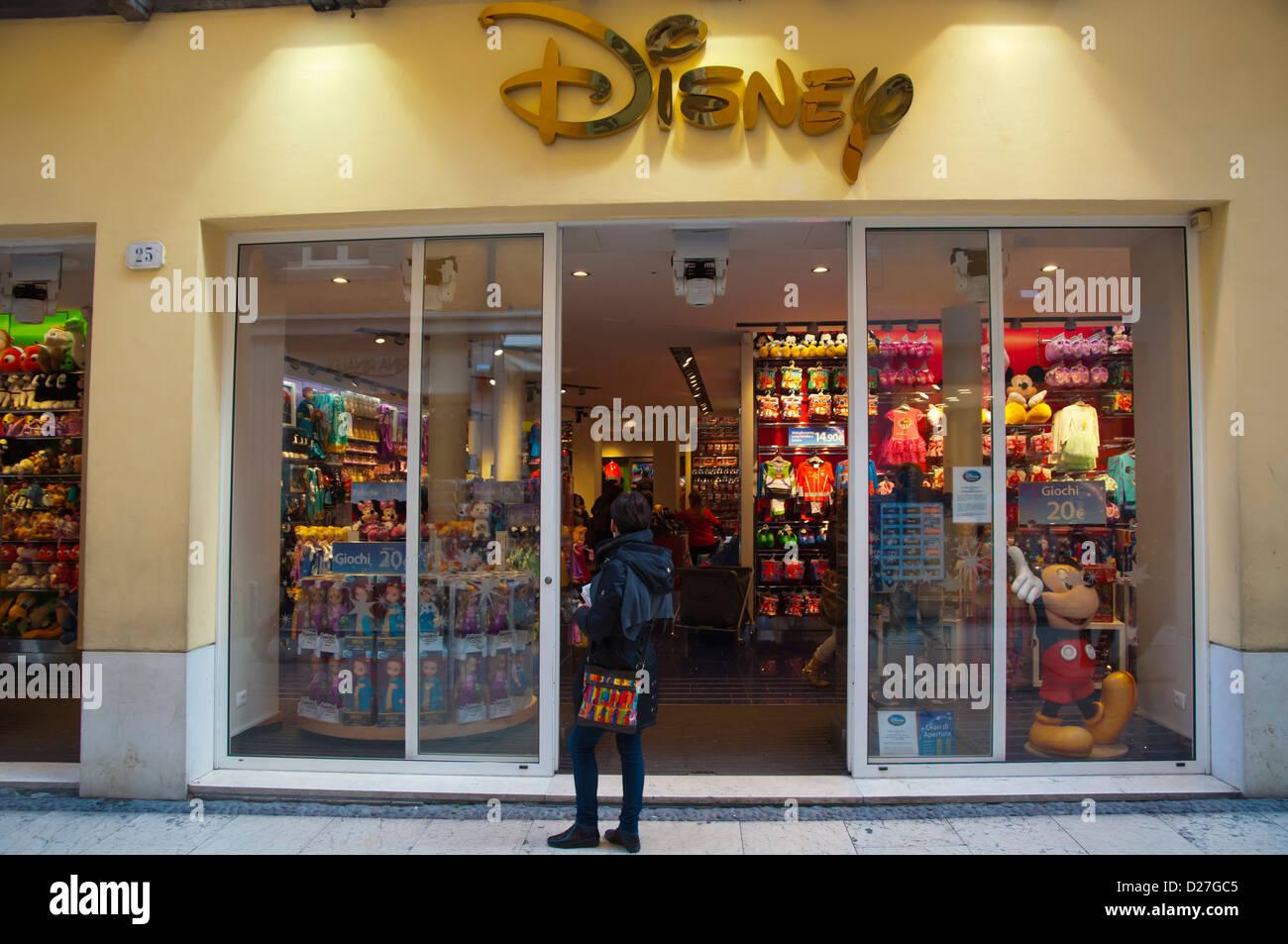 Disney store along via Mazzini street Verona city the Veneto ...