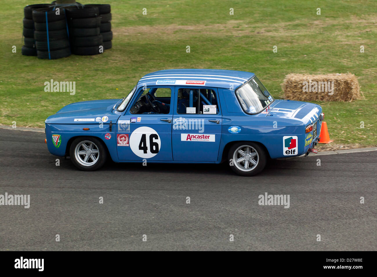 patrick bridger driving a1965 renault 8 gordini in the sprint event stock photo royalty free. Black Bedroom Furniture Sets. Home Design Ideas