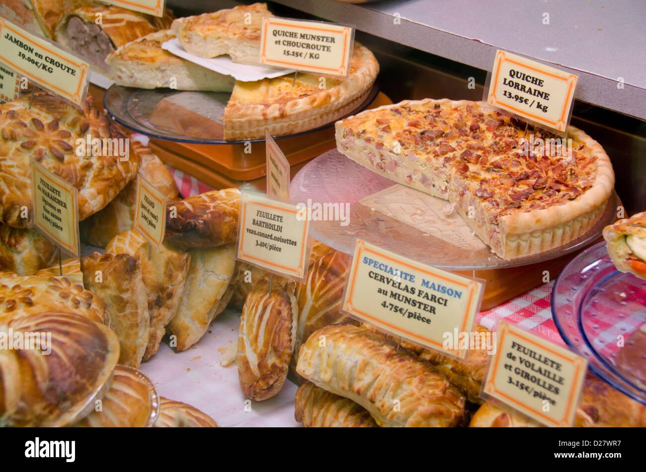 France alsace colmar bakery shop window with - Colmar cuisine creation ...