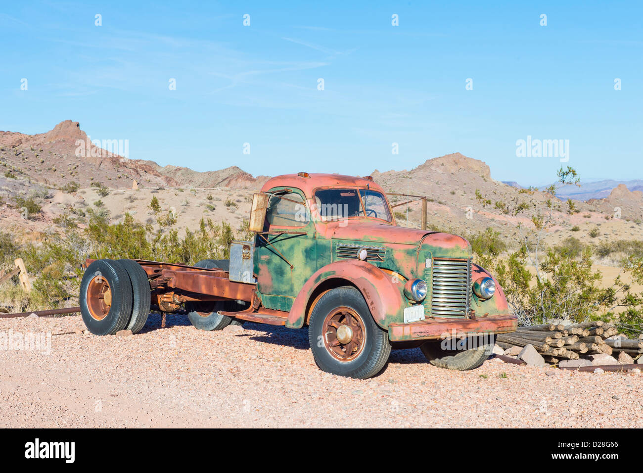Old rusty truck in Nelson Nevada ghost town Stock Photo: 53048750 ...