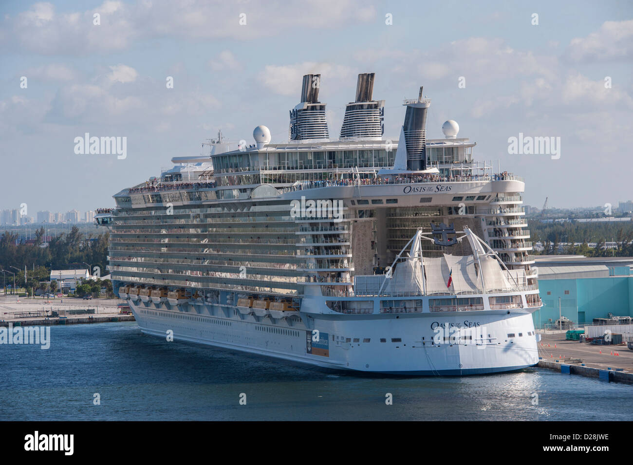 Fort Lauderdale Port Everglades Florida USA Oasis Of The Seas Stock Photo