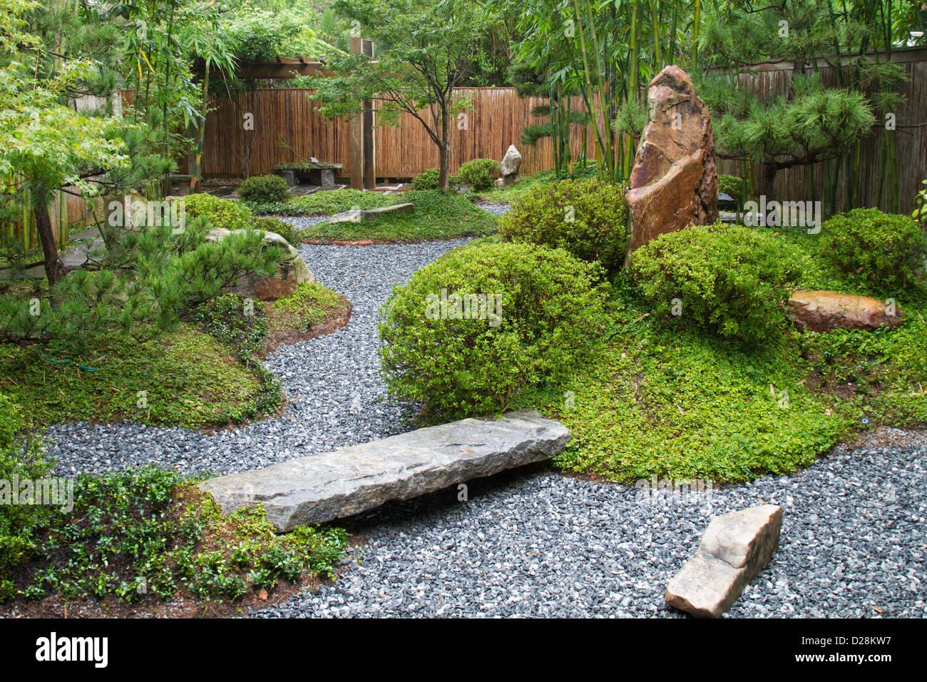 LA, New Orleans, New Orleans Botanical Garden, The Yakumo Nihon Teien  Japanese Garden