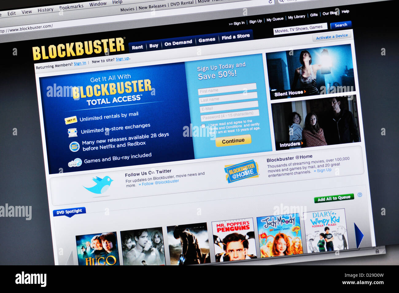 The online dvd rental service is much more convenient than going to your local Blockbuster Video store. Plus Blockbuster Online dvd rentals has more than 80, titles to choose from. This is far more movies than is available at your local Blockbuster Video store, and includes the latest new releases.