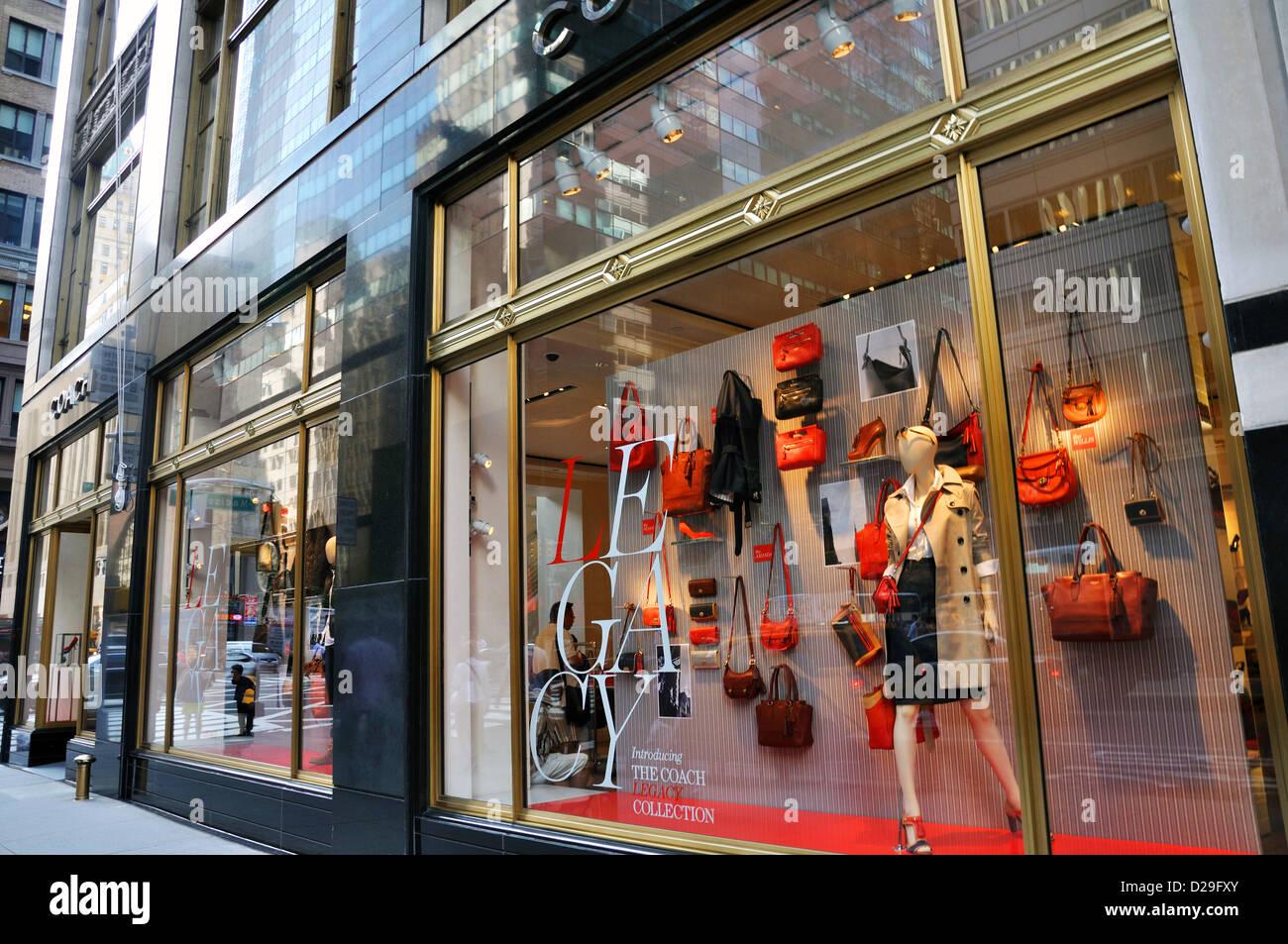 Coach Storefront New York City Usa Stock Photo Royalty Free Image 53070499 Alamy