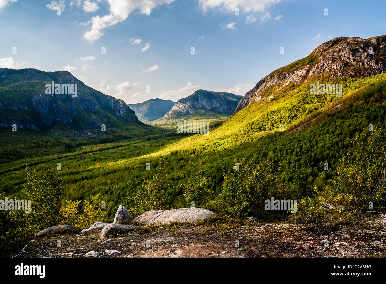 View from the path of national Park Grands-Jardins in ...